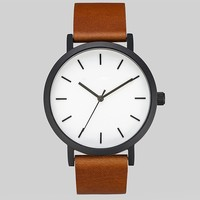 100pc/lot,Unique Design Men Business Watch Genuine Leather Strap Roma Numbers Women Watch watch cases for men