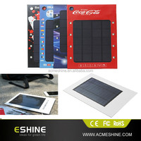 1000mAh flexible paper solar charger for mobile phone, smart phone and various digital devices with flashlight function