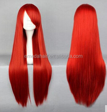 Red wig cosplay europe fashion cosplay wigs long straight wig cosplay