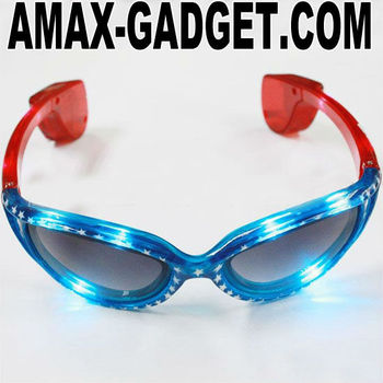 HB-002 LED sunglass Fashionable LED Sunglasses with Twelve Colors