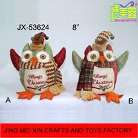 High quality 8'' happy colorful Xmas owl decoration for 2016