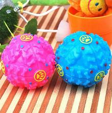 Plastic Squeaky dog toy Leakage food dog ball dog chew toy