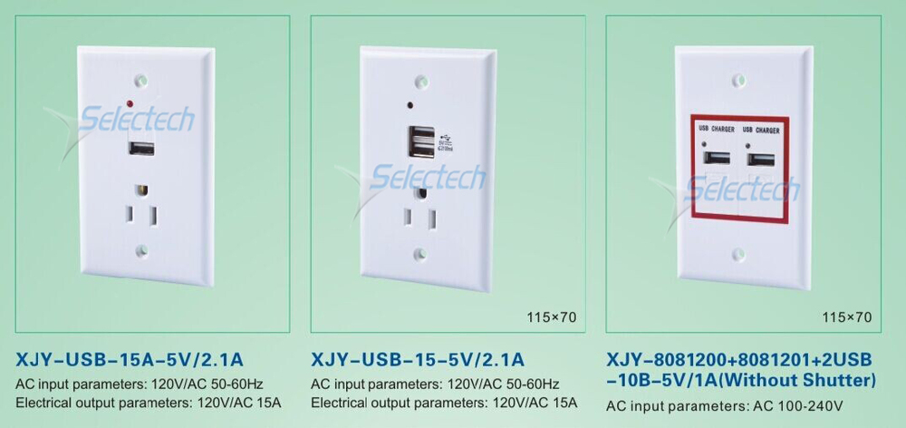 AC wall charger socket
