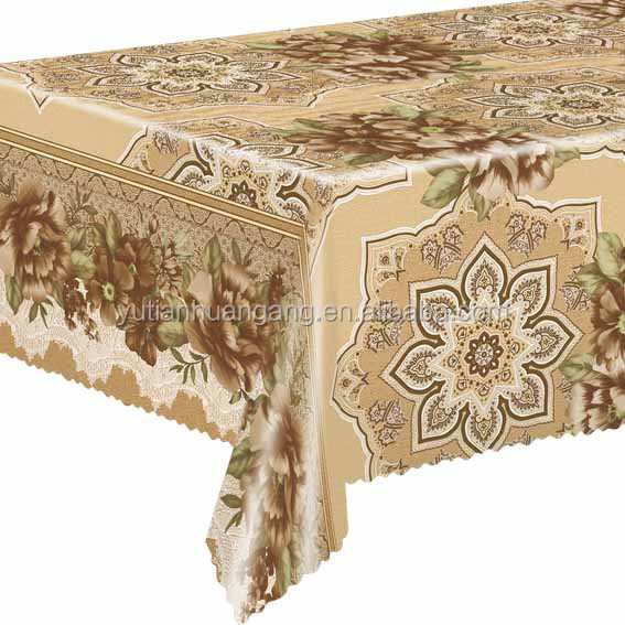Thin Printed PVC Table Cloth / Oilproof Plastic Table Cover
