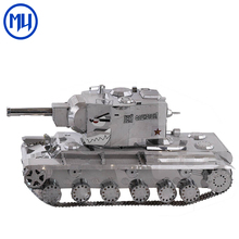 Mu Classic 3D Metal Model Keep Newly Long KV-2 Tank Diy Etching Craft Assembling Puzzle Toys for Adults