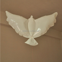 Hot sale 100% biodegradable cheap helium white dove balloons for wedding