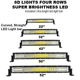 Flashing Offroad White/Amber/Yellow LED Light Bars 36W 72W 120W 180W 240W 300W