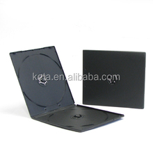 7mm Plastic Black Covers Short PP CD Case For Double DVD