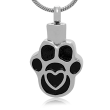 Wholesale Silver Fox Stainless Steel Pendant Cremation Keepsake Pet Paw Engraved Wholesale Jewelry