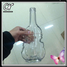 new design 450ml 15oz violin guitar shaped glass bottles for sale