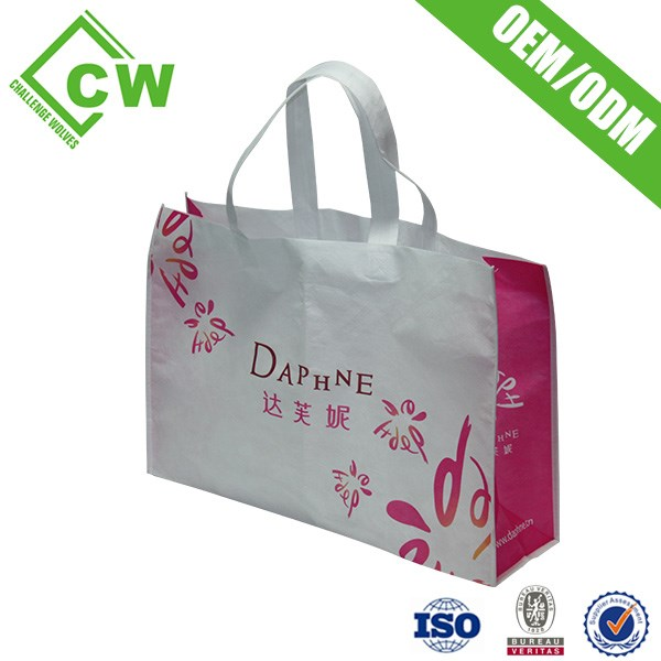 Newest glossy pp laminated shopping tote BAG wholesale