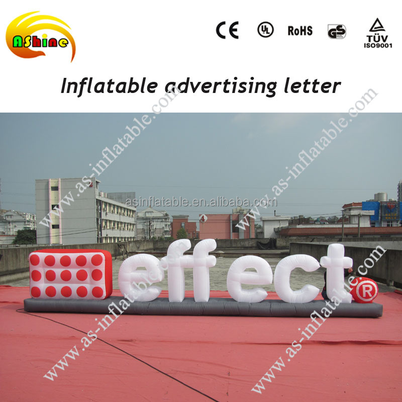 2016 newest Advertising Giant Inflatable Letters logo model for advertising