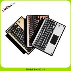 Rechargeable Aluminum smart Bluetooth keyboard cover for Surface Pro 3/4 BK8122-3