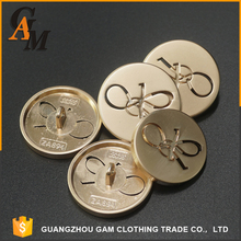Hot sale made metal resin easy pull fancy custom logo sewing buttons For shirt