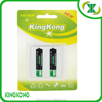 R03P ,AAA,UM-4 Carbon zinc battery