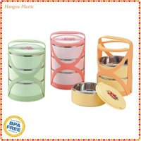 Jacket Hold 3pcs insulated box as one set with plastic fork and spoon compartment