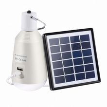 Portable Solar Rechargeable LED Lantern with built-in 3.7V/2600mAh Lithium battery