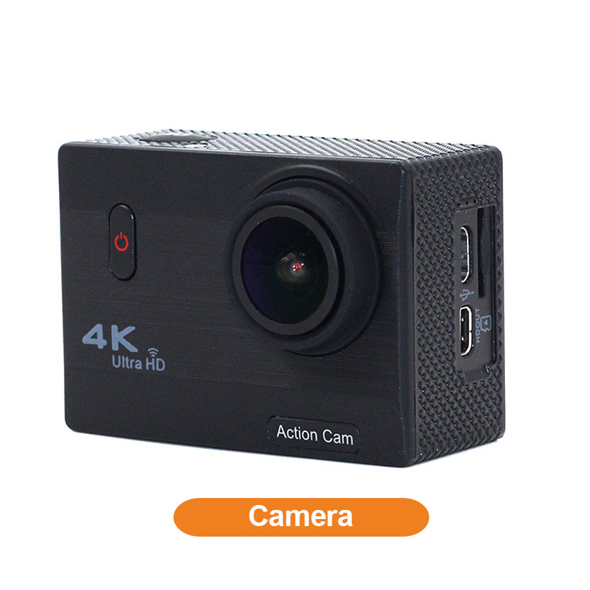 Healthcabin china manufacturer F69 Wifi 4K Sports Action Camera Black