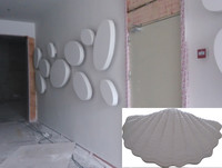 interior wall decoration profiled construction material GRG gypsum