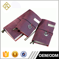 Wholesale vintage leather diary notebooks soft leather cover notebook journal