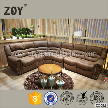 L-shaped Corner Big Round Size Recliner Sofa ZOY-R9878A