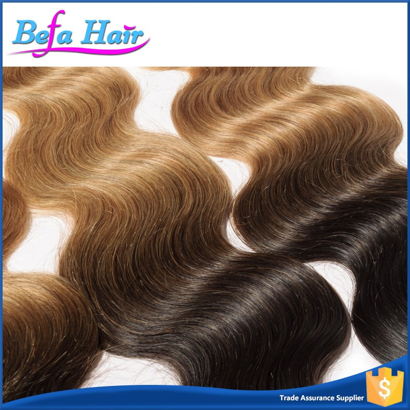 Aliexpress hot sale top fashion style ombre body wave brazilian orange rey hair extensions