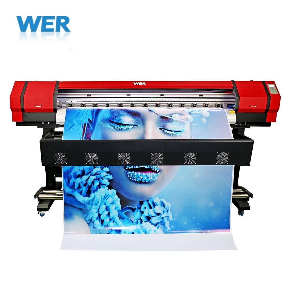 Cheap price 1 6m small outdoor indoor small size eco solvent vinyl sticker printer machine