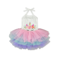 2018 Summer Fancy Cute Baby Girls Party Dress Pink Blue Purple Tulle Sleeveless Tied Dress Multi Color Baby Clothing