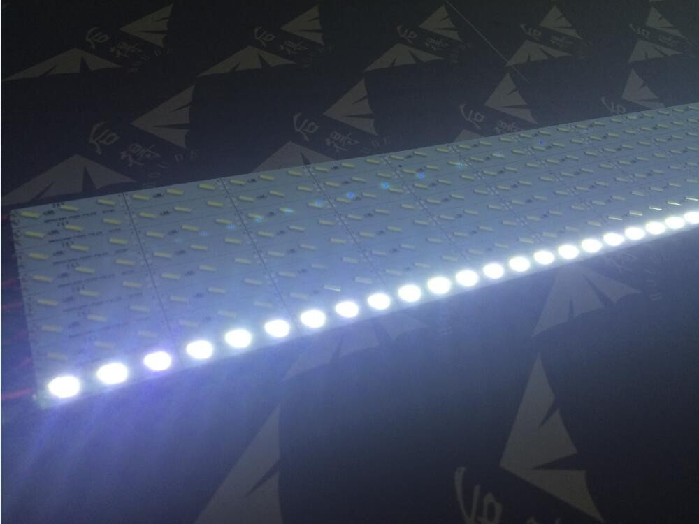 12v 24v 0.2-0.5w sign billboard display lighting aluminum 7020 smd led rigid strip light strip led bar 7020 adhesive tape back