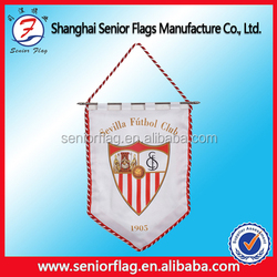 mini custom logo design soccer pennant , football club exchange flag