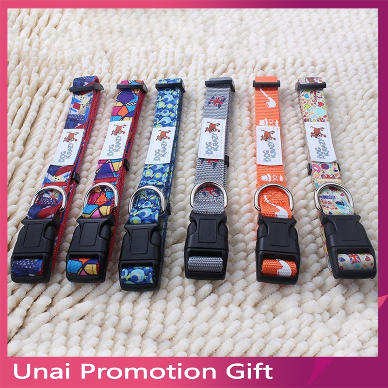 Dog Collar By 100% Polyester Sublimation Dog Collar Pet Collar Flowers Hawaii Summer Pet Accessories
