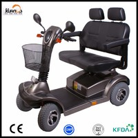 4 wheels electrical 2 seats mobility scooter for park for handicapped people