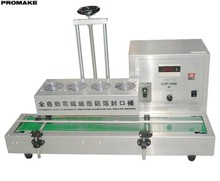 GLF-1800 Automatic induction sealing machine with small conveyor belt