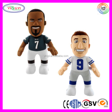 D893 Soft Printed Sports Human Doll Stuffed Plush Football Player Toys
