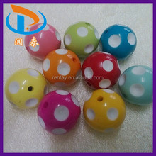 Cheapest Bulk 18MM Assorted Colors Fashion Bubblegum Chunky Plastic Beads For Bracelets And Necklace Jewelry Wholesale