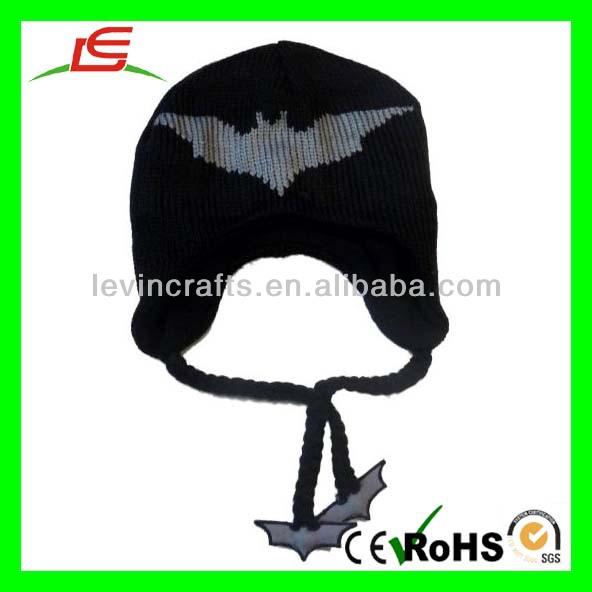 D781 Batman Knit Peruano Trapper Sombreros Animales Del Ganchillo ...
