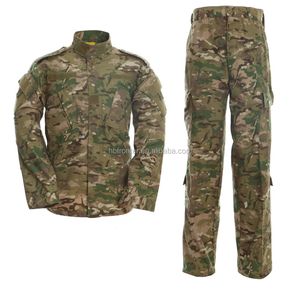low price military uniform camouflage fabric ACU multicam color uniform