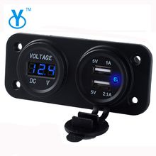 Android Phone Tablet Fast Wireless 2 Ports Car Charger With Voltmeter LED Display Mobile Cell Phone 2017 Car Batter Charger