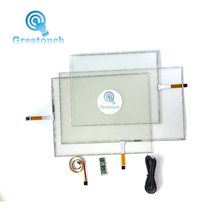 Resistive sensitive transparent glass flat touch screen