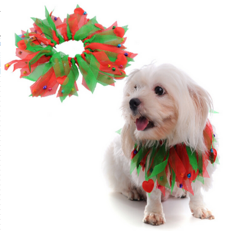 Hot sale christmas pet dog collars new arrival wholesale dog christmas ornaments