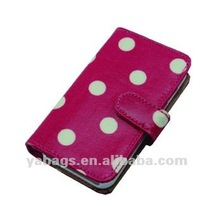 2012 Hot sale dot leather case for mobile