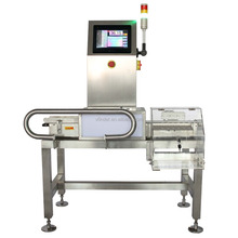 Automatic belt conveyor food weight checker machine