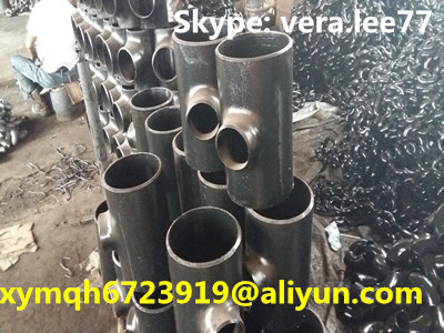 q235 carton steel reducing tee