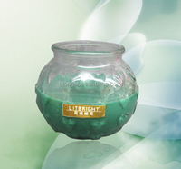 Professional factory cheap hotsale fruit glass jar candle