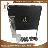 Newest smokeless herb vaporizer Rockit wax oil vape pen with water pipe tools