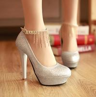 2017 new arrivals fashion women shoes big size ladies platform high heel shoes