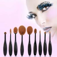 Oval Makeup Foundation Powder Sponge Brushes Kits Super Soft Cosmetic Blush Eyeshadow Brushes Set