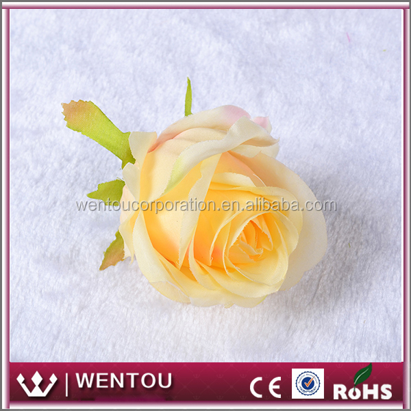Wholesale Colorful Flower Head Silk Rose Bud