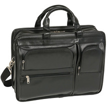 17 Detachable-wheeled laptop case leather trolley bag 2-in-1 Detachable Wheel and Handle trolley suitcase.
