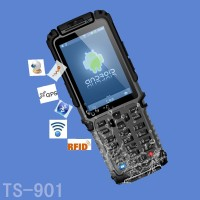Tousei TS-901 rugged industrial pda android mobile barcode scanner with RFID reader/WIFI/Bluetooth/3G for logistics